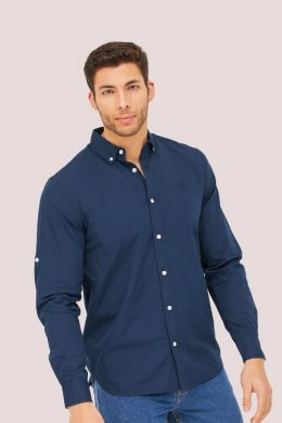 Plain long sleeves shirt with emroidered Blueage brand stars logo