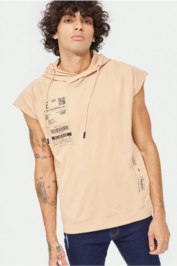 Hoodie t-shirt with prints
