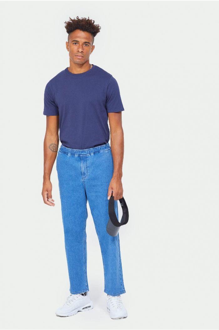 Plain denim pants