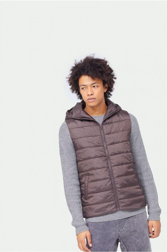 Plain puff vest