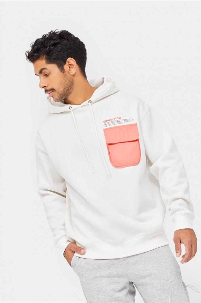 Sweatshirt hoodie with back print