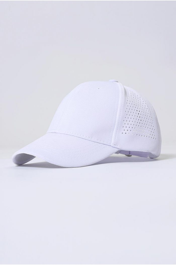 Plain cap with perforated details