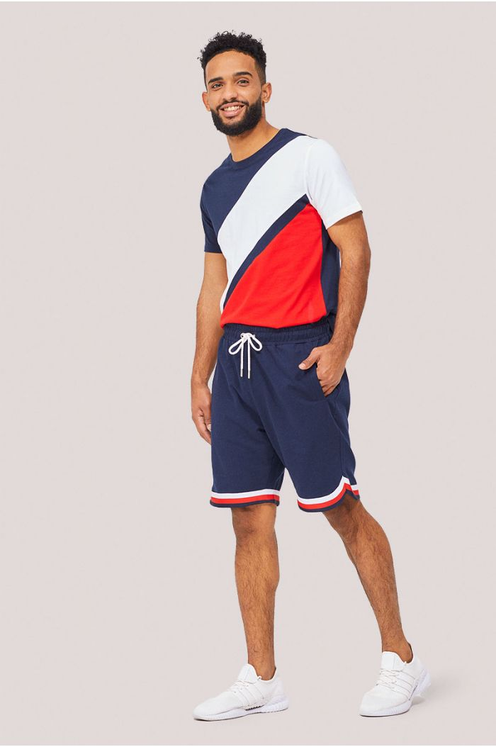 Sweat shorts with lining details