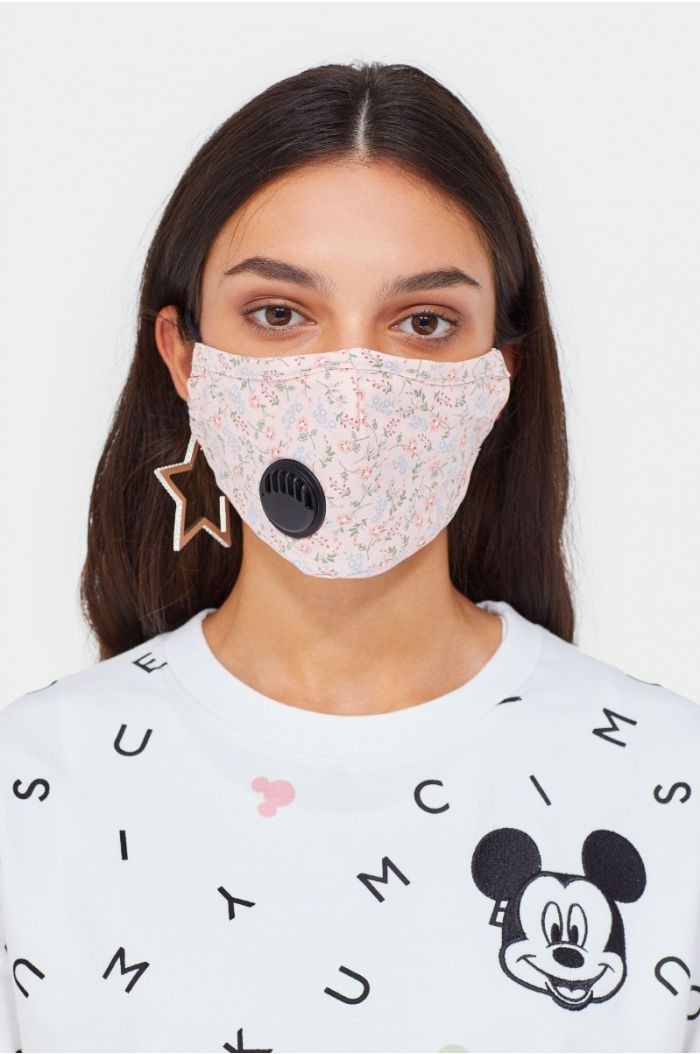 Printed face mask with filter