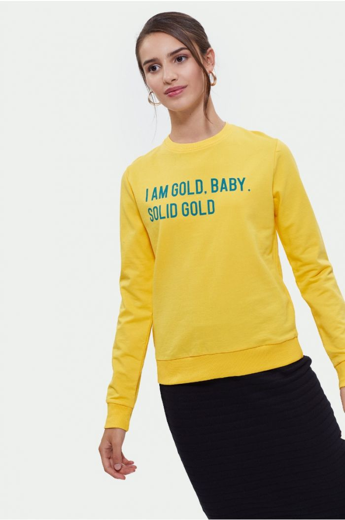 Sweatshirt with wording print