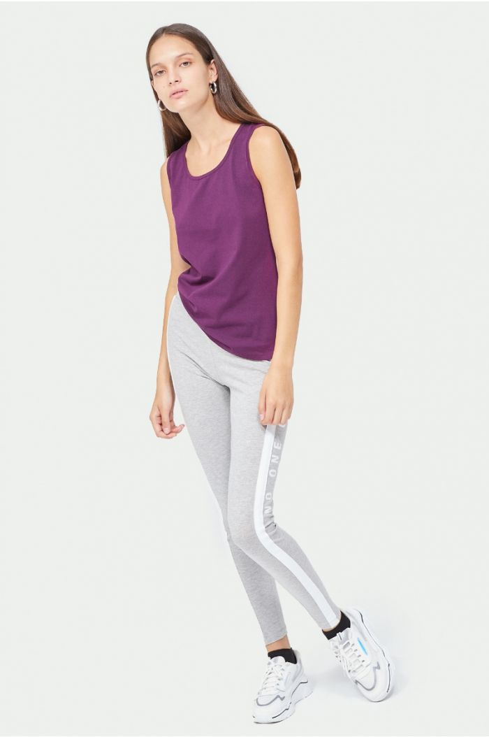 Legging with side lining