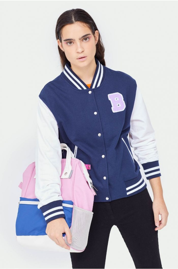 Bomber jacket with wording prints