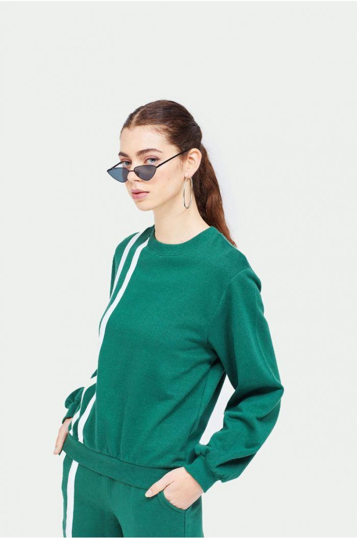Sweatshirt with linings