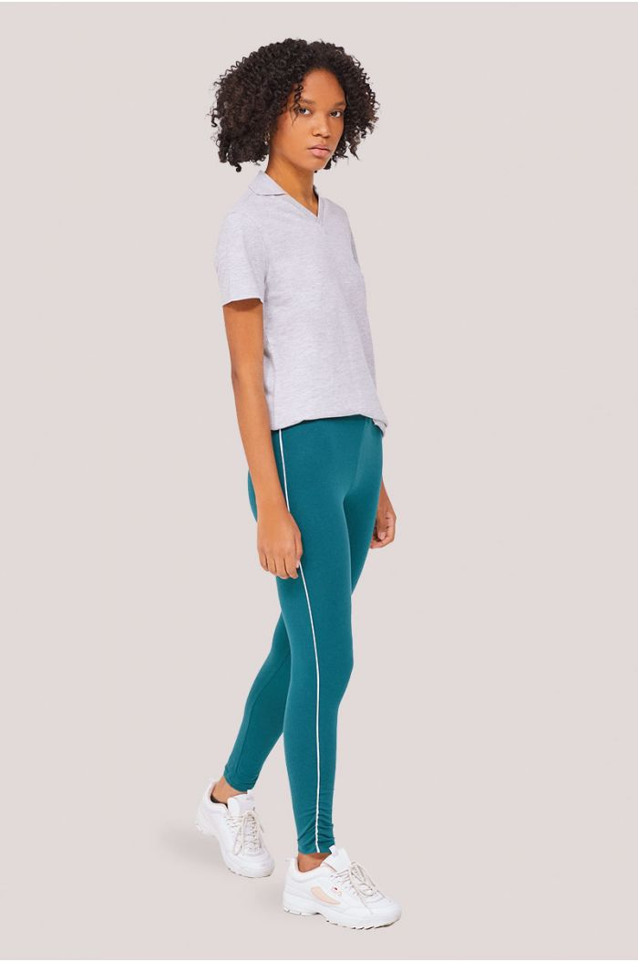 Legging pants with side lining