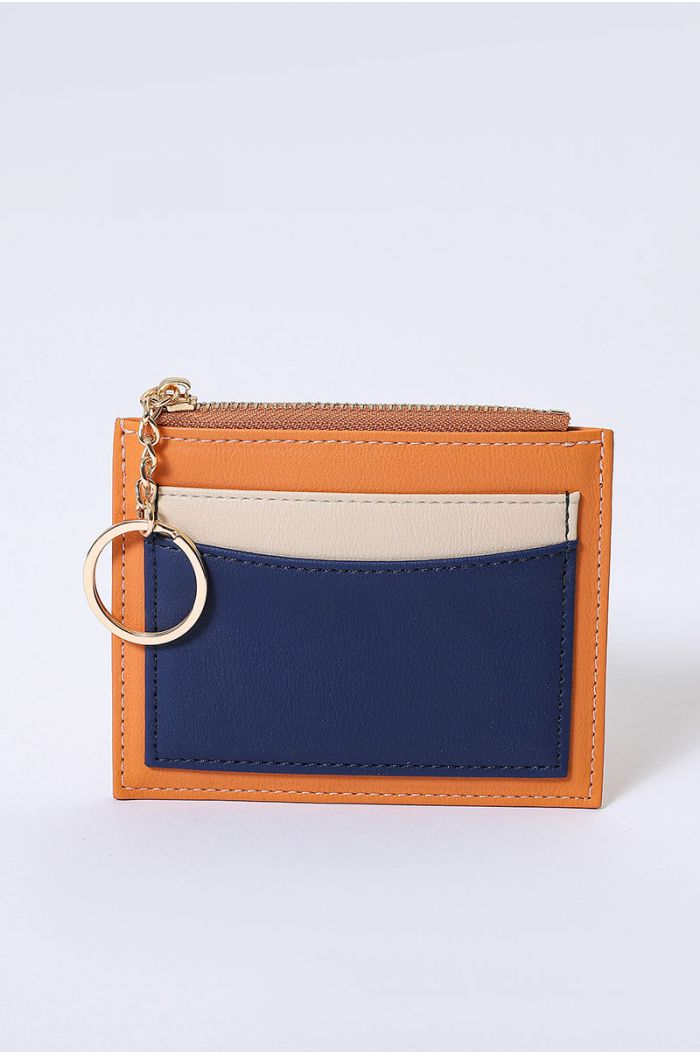 Wallet with multi colored and pockets layers