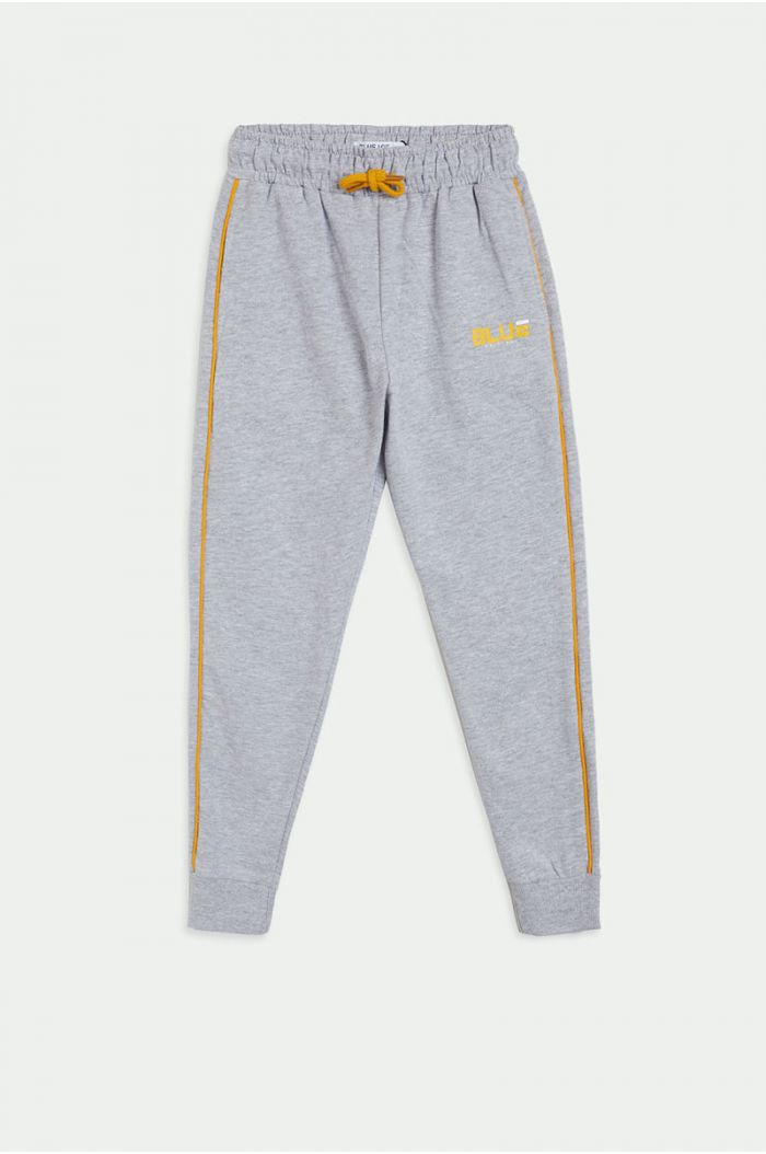 Sweatpants with side linings and wording print