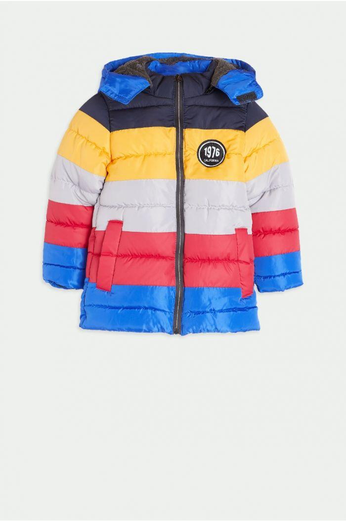 Multi colored puffed coat