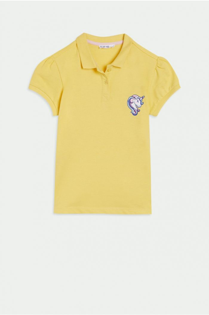 Polo t-shirt with print