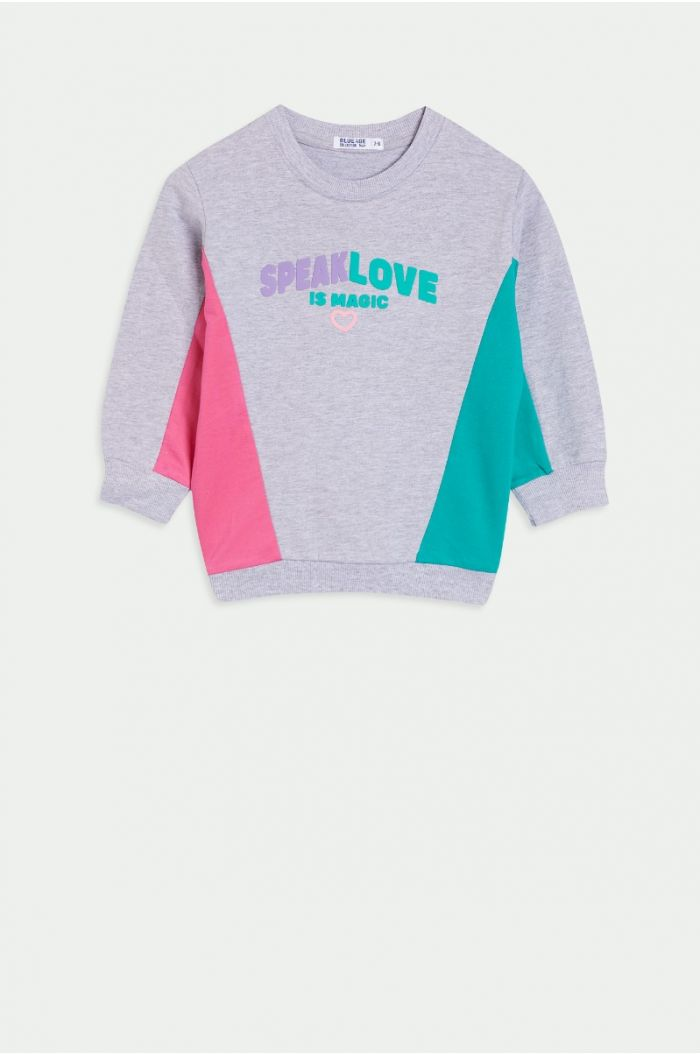 Multi colored sweatshirt