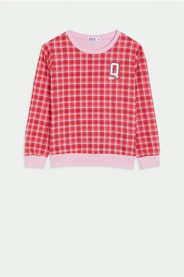 Checkered sweatshirt