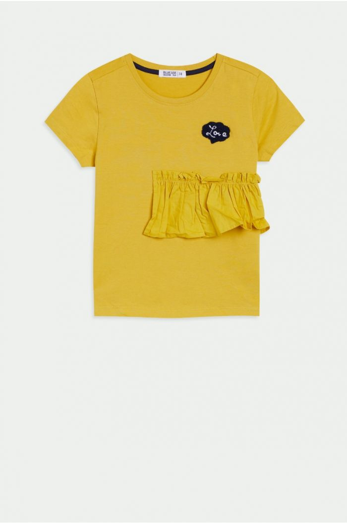 T-shirt with ruffle