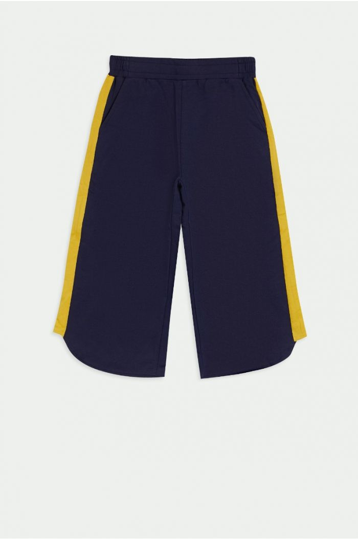 Culotte pants with side lining