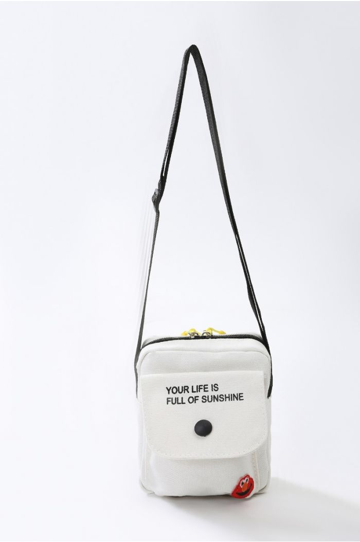 Shoulder bag with print