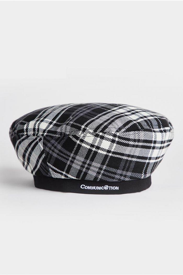 Checkered beret hat